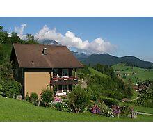 Chalet - Luzern Switzerland  Photographic Print