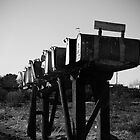 Row of Mailboxes in Hi-Vista, California by straycat88