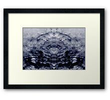 Elusive water ripples Framed Print