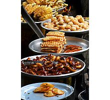 Delicious snacks in Phnom Penh's Russian Market Photographic Print