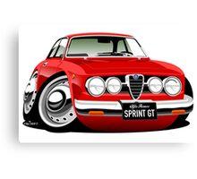 Alfa Romeo Sprint GTV caricature red Canvas Print