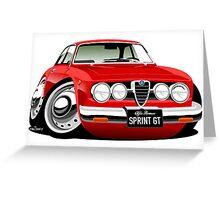 Alfa Romeo Sprint GTV caricature red Greeting Card