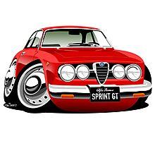 Alfa Romeo Sprint GTV caricature red Photographic Print