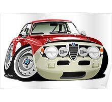 Alfa Romeo Giulia Sprint GT caricature Poster