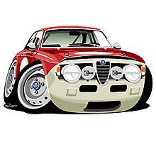 Alfa Romeo Giulia Sprint GT caricature Photographic Print