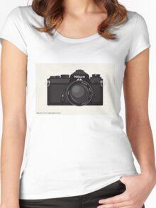 Nikon FE 35mm slr Women's Fitted Scoop T-Shirt