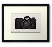 Nikon FE 35mm slr Framed Print