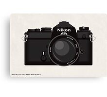 Nikon FE 35mm slr Canvas Print