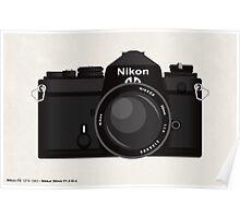 Nikon FE 35mm slr Poster