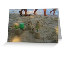 Ignoring The Sand Critters as You Walk Past Greeting Card