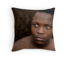 Jacob in Brown Throw Pillow