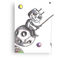 Fishing Robot Canvas Print