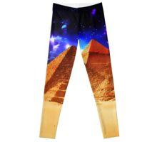 Space beyond the pyramids  Leggings