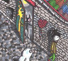 Around the corner 1 by Laksen