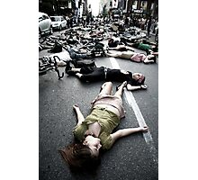 montreal die-in Photographic Print