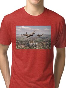 Two Lancasters over Lincoln Tri-blend T-Shirt