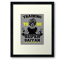 TRAINING TO GO SUPER SAIYAN (BOLD EDITION) Framed Print
