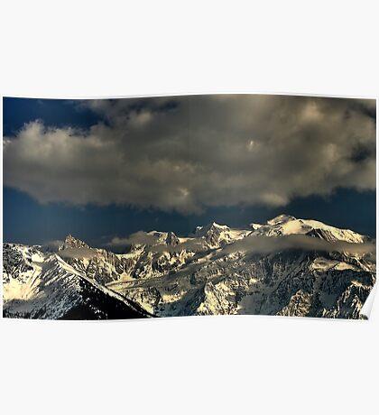 Mont Blanc shrouded Poster