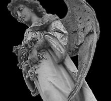 Grave Stone Angel by monsterplanet