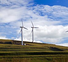 WIND FARM TAFF EKY WALES UK by kfbphoto
