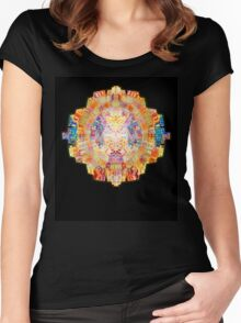 Mandala - Psychedelic Geometry  Women's Fitted Scoop T-Shirt