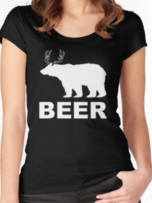 Beer Animal Mens Womens Hoodie / T-Shirt Women's Fitted Scoop T-Shirt