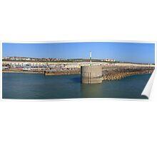 Panoramic blue marina Poster