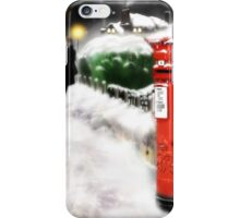 Traditional Christmas Illustration: Red Post Box in Snow [Soft Mix] iPhone Case/Skin