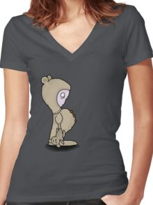 I want my Mommy Women's Fitted V-Neck T-Shirt