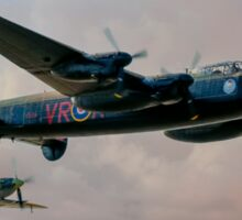 Two Icons - Lancaster and Spitfire Sticker