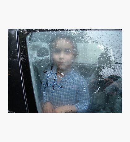 Rainy portrait Photographic Print