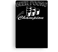 Beer Pong Champion Mens Womens Hoodie / T-Shirt Canvas Print