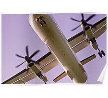 Aeroplane flying over head Poster