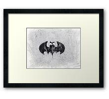 Cute bat baby Framed Print