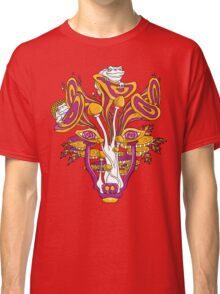 Psychedelic Mushroom Wolf Classic T-Shirt
