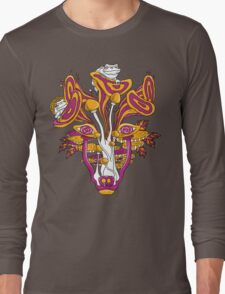 Psychedelic Mushroom Wolf Long Sleeve T-Shirt