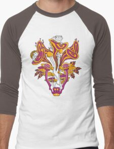 Psychedelic Mushroom Wolf Men's Baseball ¾ T-Shirt