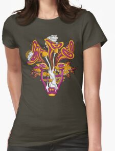 Psychedelic Mushroom Wolf Womens Fitted T-Shirt