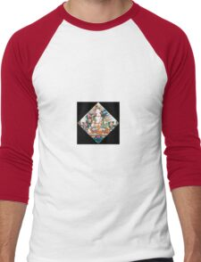 White Tara Rainbow Men's Baseball ¾ T-Shirt