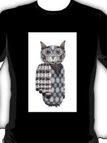 Zentangle Owl Design T-Shirt
