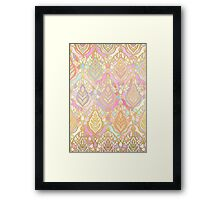 Rosy Opalescent Art Deco Pattern Framed Print