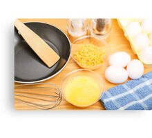 Making Omelets Canvas Print