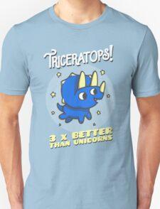 Triceratops 3 Times Better Than Unicorns T-Shirt
