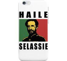 Haile Selassie Rasta BLK iPhone Case/Skin