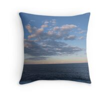 Cloud formation over the sea Throw Pillow