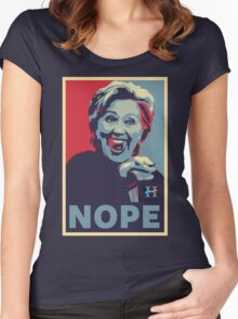 Hillary Clinton - Nope Women's Fitted Scoop T-Shirt