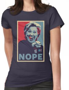 Hillary Clinton - Nope Womens Fitted T-Shirt