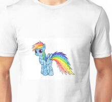 My Little Pony Zentangle Rainbow Dash Unisex T-Shirt