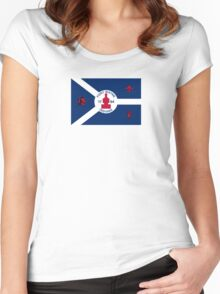 Flag of Fort Wayne Women's Fitted Scoop T-Shirt