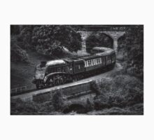 Sir Nigel Gresley Locomotive - Black and White Kids Clothes